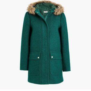 J Crew Mercantile Emerald green Parka jacket coat